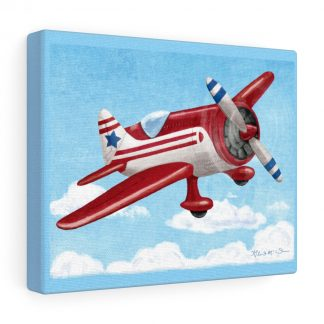 retro airplane in red