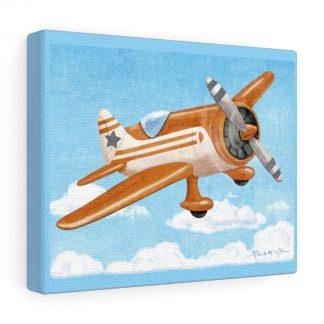 retro airplane in grey and orange