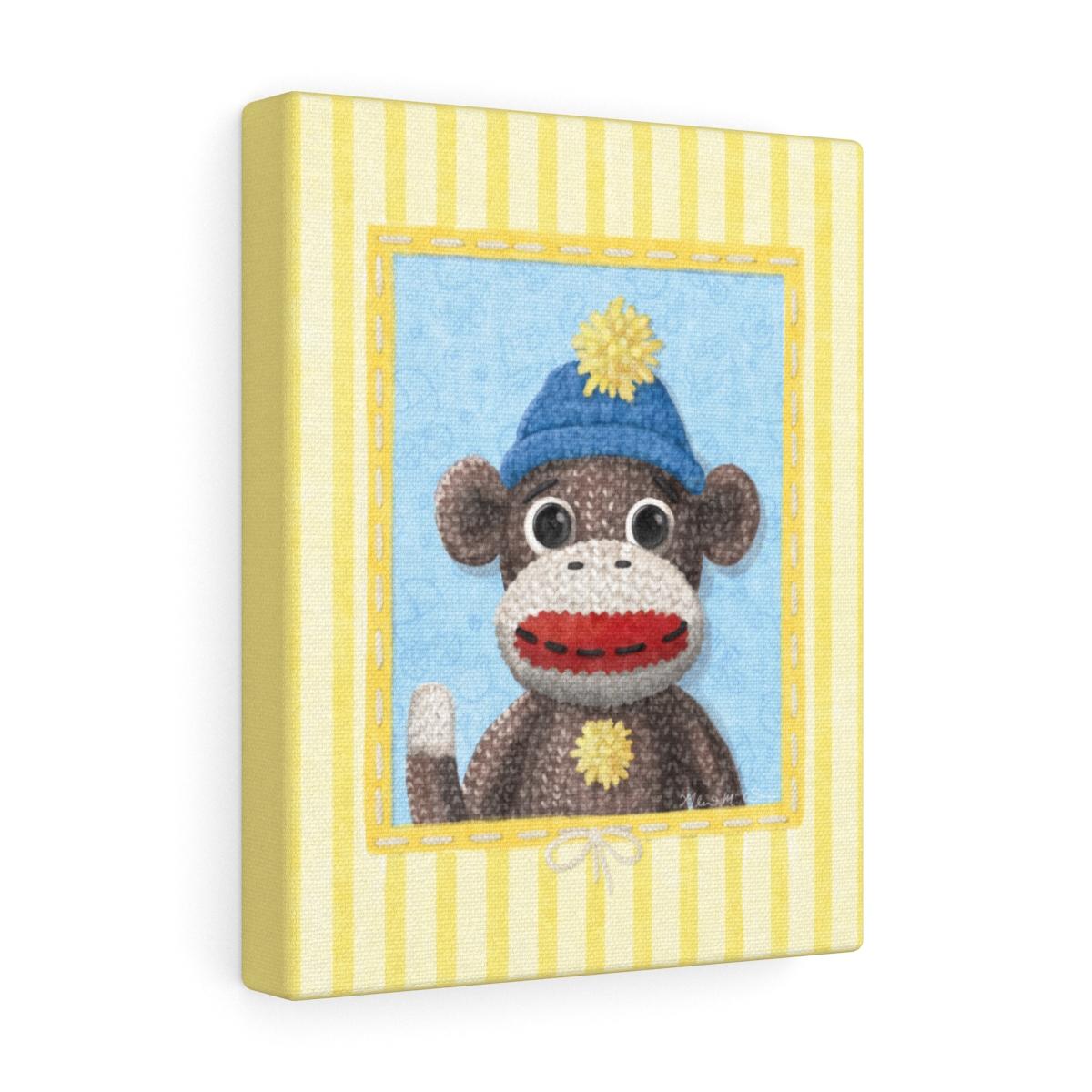 Charlie the Sock Monkey - Canvas Gallery Wraps - Big Mural Design Studio