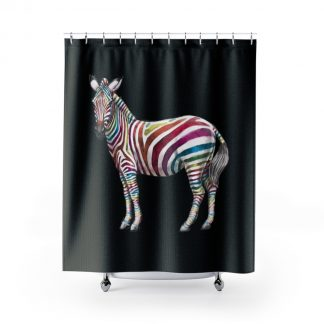 Skittles the Zebra - Zebra Shower Curtain