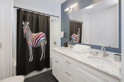 Skittles the Zebra - Zebra Shower Curtain