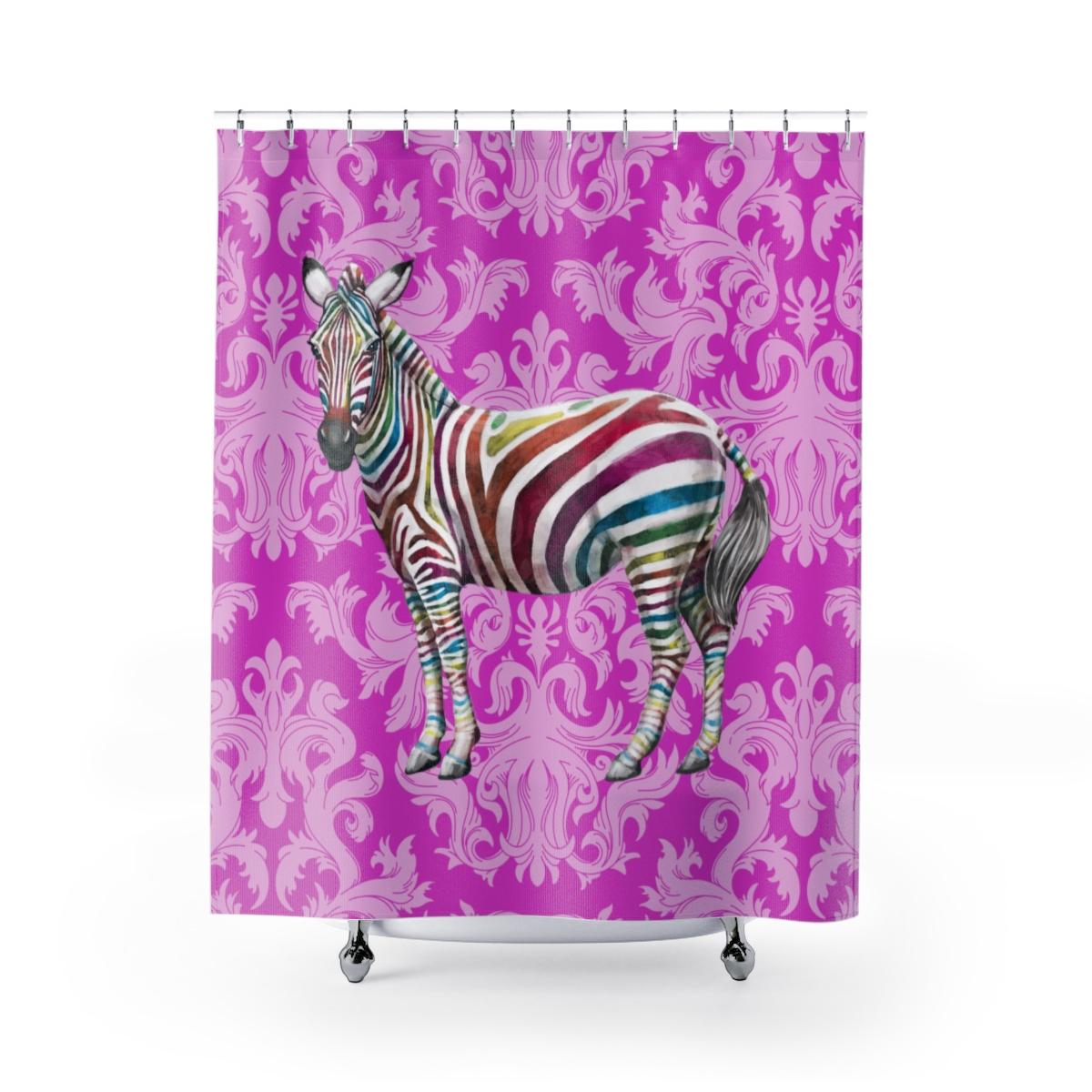 Zebra Shower Curtains